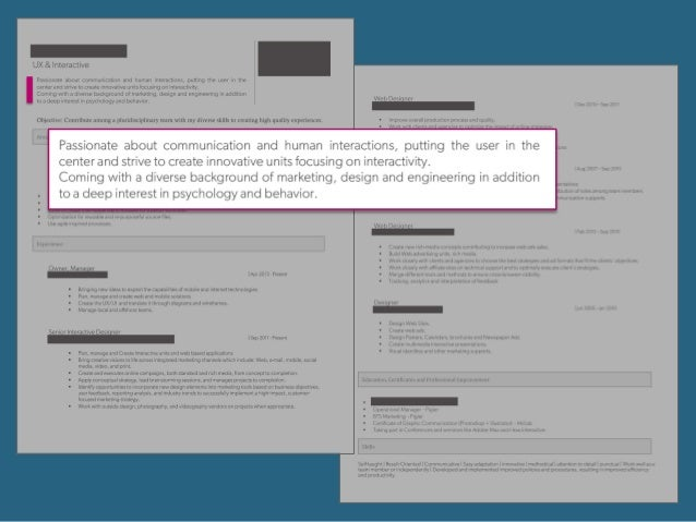 Design a UX resume that will get you hired