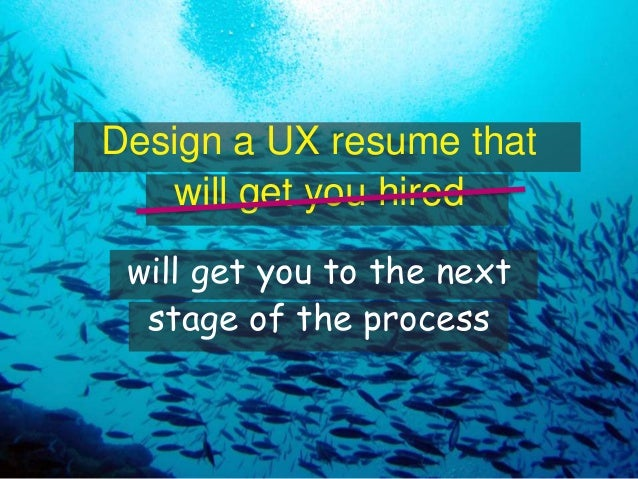 design a ux resume that will get your hired