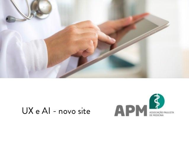 UX e AI - novo site