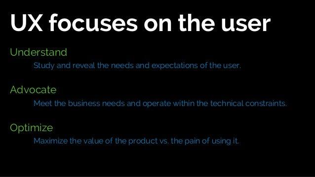 UX should facilitate innovation.