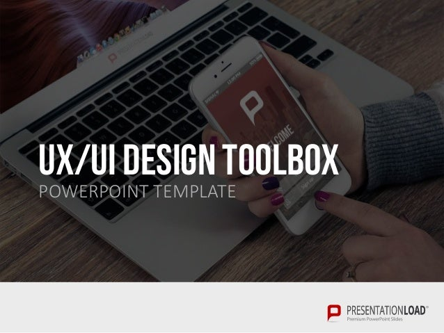 ui & ux design toolbox ppt template, Presentation templates