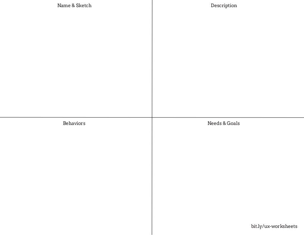 Lean UX Worksheets