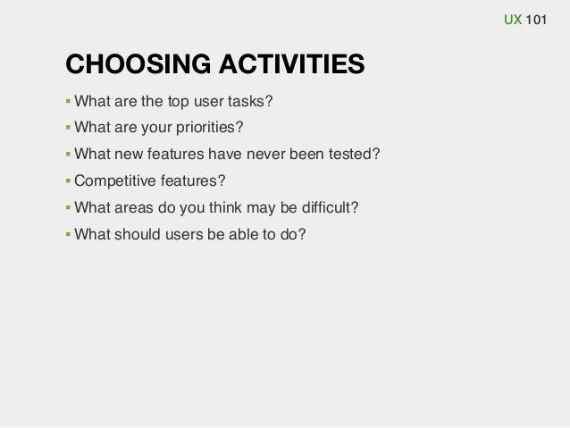 Ux 101, usability testing