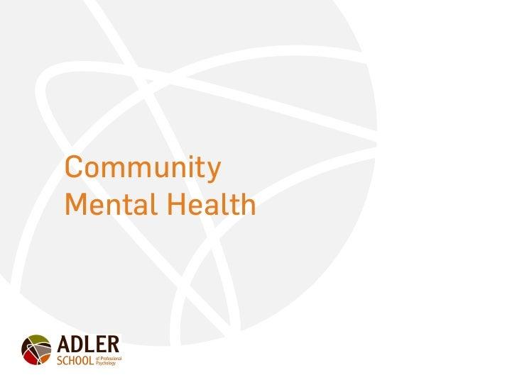 CommunityMental Health
