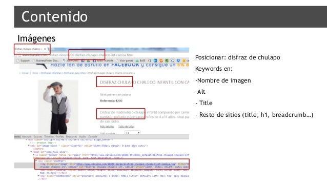 Imágenes Contenido Posicionar: disfraz de chulapo Keywords en: -Nombre de imagen -Alt - Title - Resto de sitios (title, h1...