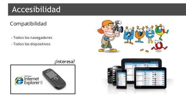 Compatibilidad Accesibilidad - - Todos los navegadores - - Todos los dispositivos ¿Interesa?