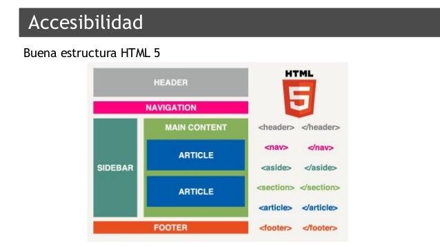 Accesibilidad Buena estructura HTML 5