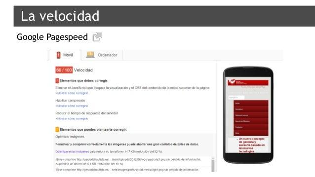 La velocidad Google Pagespeed