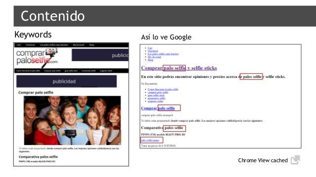 Contenido Keywords Chrome View cached Así lo ve Google