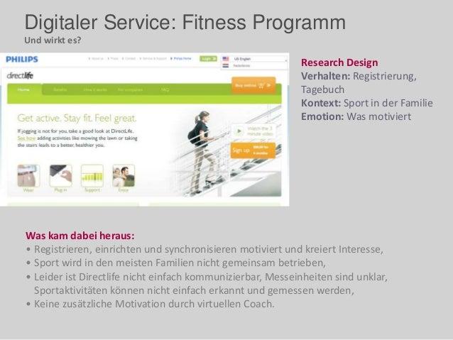 Digitaler Service: Fitness Programm Und wirkt es? Was kam dabei heraus: • Registrieren, einrichten und synchronisieren mot...
