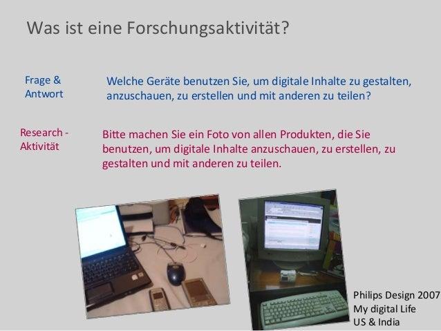 Was ist eine Forschungsaktivität? Frage & Antwort Welche Geräte benutzen Sie, um digitale Inhalte zu gestalten, anzuschaue...
