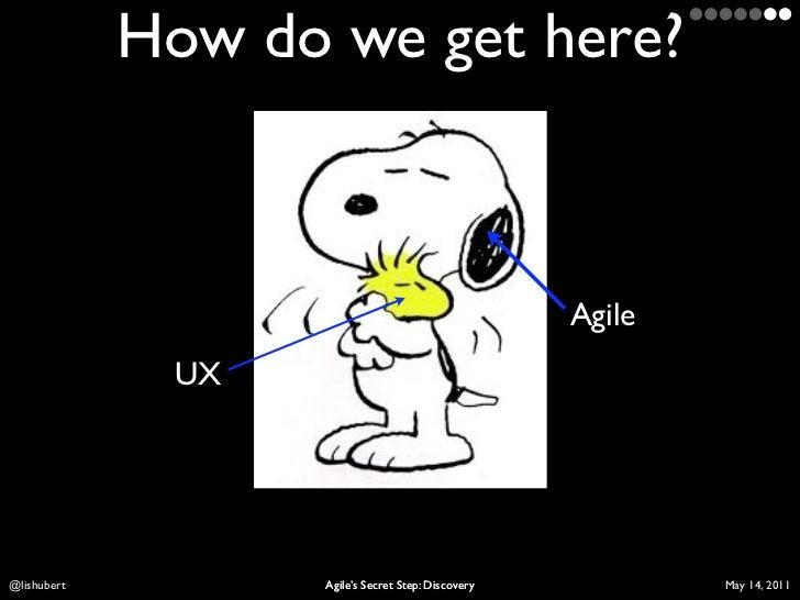 How do we get here?                                                    Agile              UXLis Hubert         Agile's Sec...