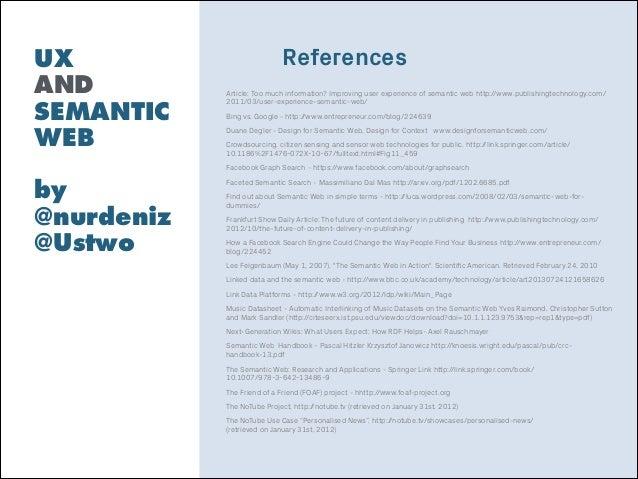 UX and Semantic web UXCamp London 2014