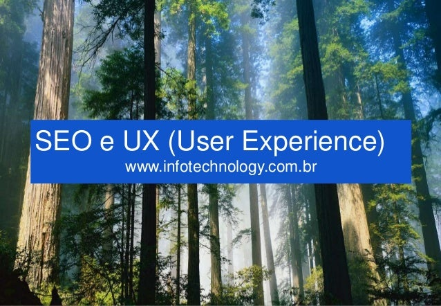 1 SEO e UX (User Experience) www.infotechnology.com.br
