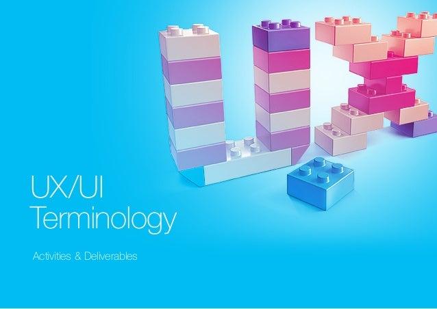 UX/UI  Terminology  Activities & Deliverables