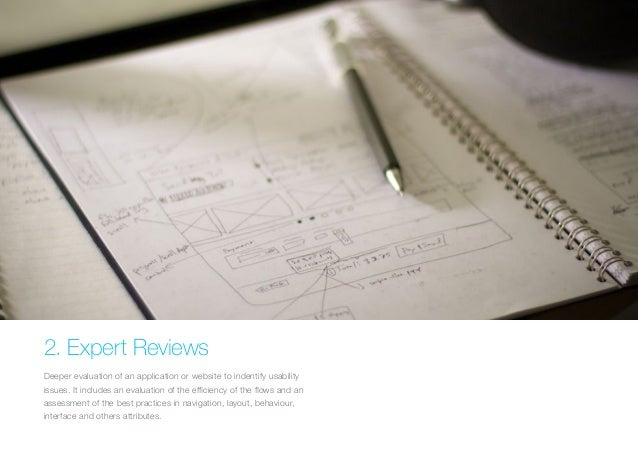 (Replace with full screen background image)  2. Expert Reviews  Deeper evaluation of an application or website to indentif...