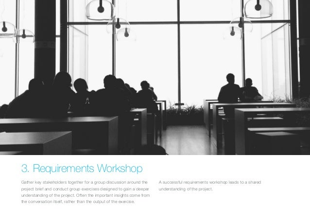 (Replace with full screen background image)  3. Requirements Workshop  Gather key stakeholders together for a group discus...