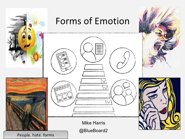 Forms of Emotion                            Mike Harris                           @BlueBoard2People. hate. forms