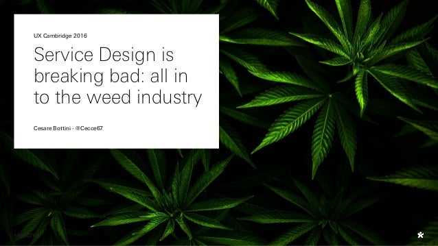 Service Design is breaking bad: all in to the weed industry Cesare Bottini - @Cecce67 UX Cambridge 2016