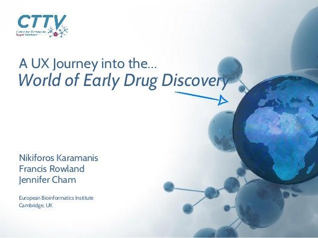 A UX Journey into the… Nikiforos Karamanis Francis Rowland Jennifer Cham World of Early Drug Discovery European Bioinforma...