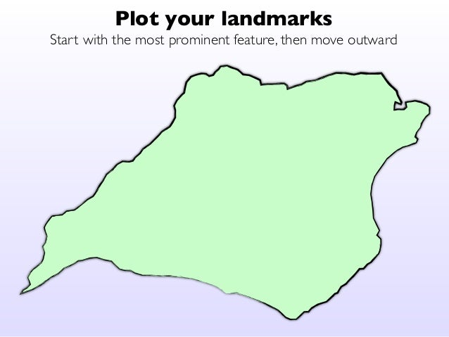 Plot your landmarks  Start with the most prominent feature, then move outward