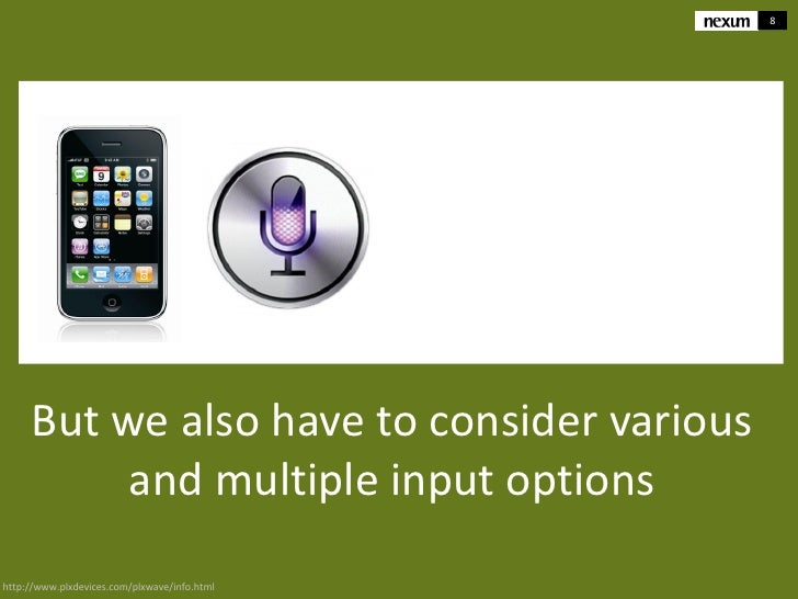 8     But we also have to consider various          and multiple input optionshttp://www.plxdevices.com/plxwave/info.html