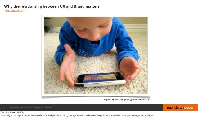 Why the relaBonship between UX and Brand maPers     THE ARGUMENT                                          ...