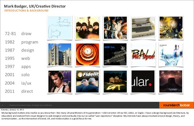 Mark Badger, UX/CreaBve Director     INTRODUCTIONS & BACKGROUND     72-‐81  draw     1982                  ...