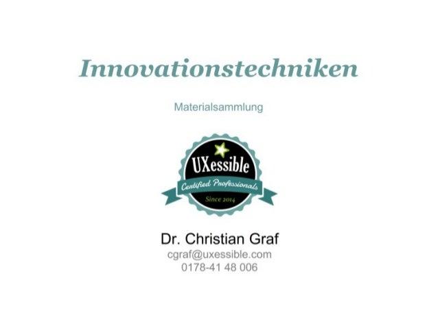 Innovationstechniken - Materialsammlung