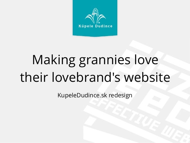 Making grannies love their lovebrand's website KupeleDudince.sk redesign