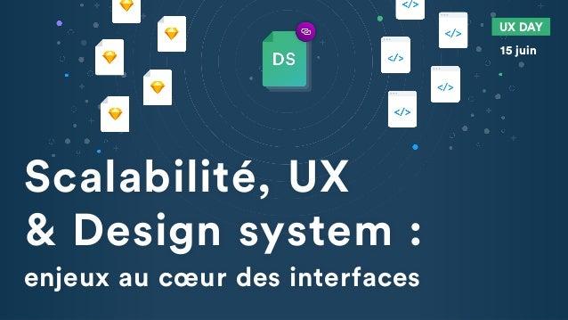 Scalabilité, UX & Design system : enjeux au cœur des interfaces UX DAY 15 juin