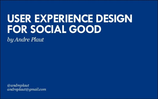 design for social good