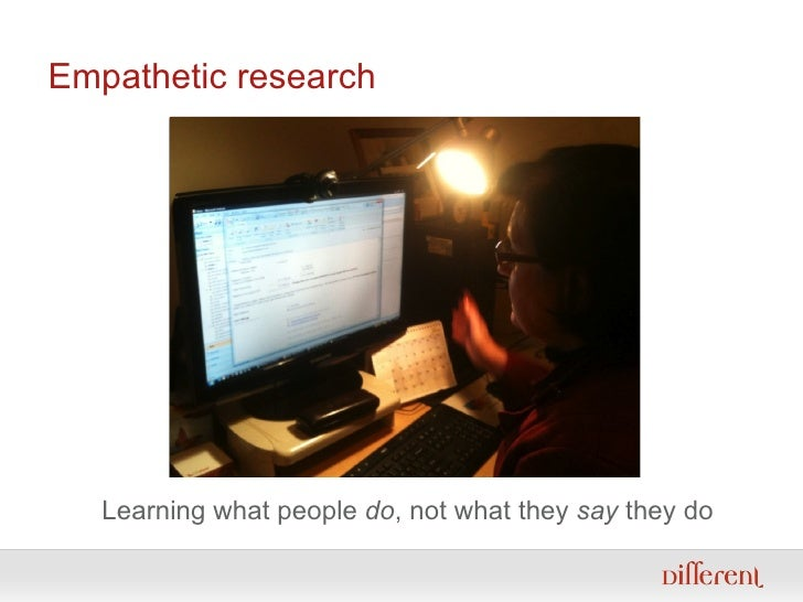 Empathetic research Learning what people  do , not what they  say  they do