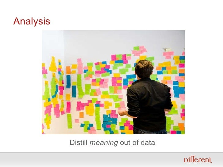 Analysis Distill  meaning  out of data
