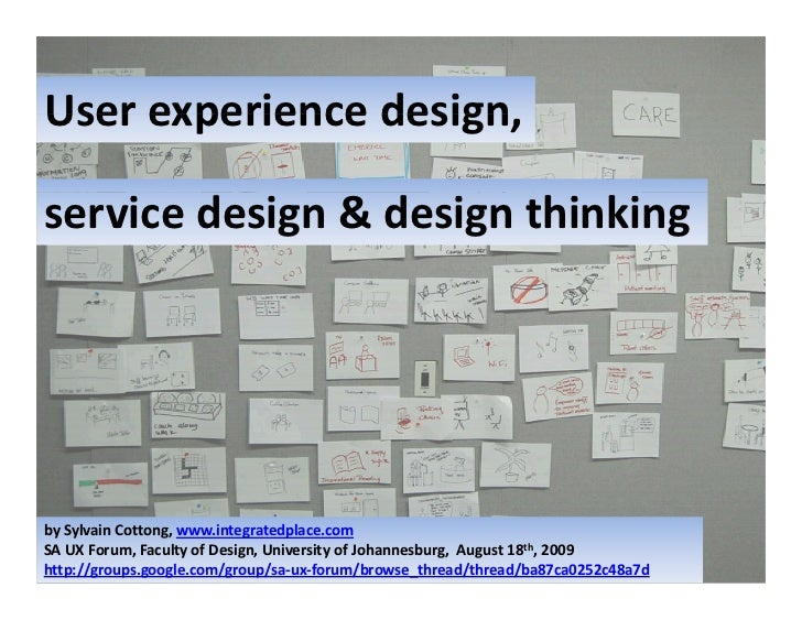 UX Design Service Design And Design Thinking