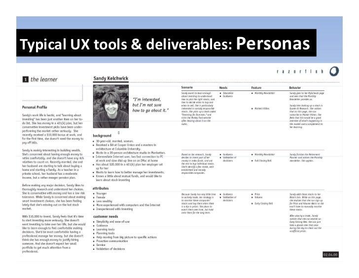 TypicalUXtools&deliverables:Personas  yp