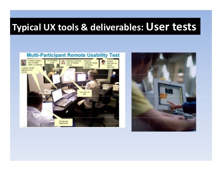 TypicalUXtools&deliverables:Usertests  yp