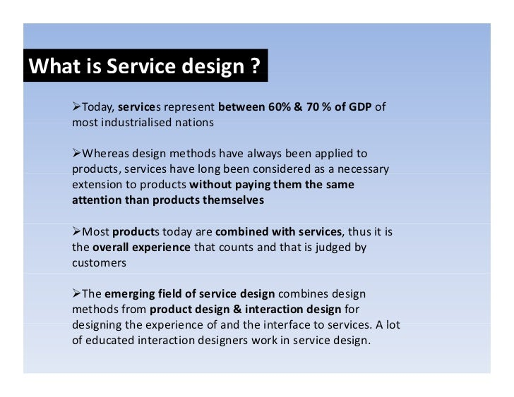 Ux design service design and design thinking for Product service design
