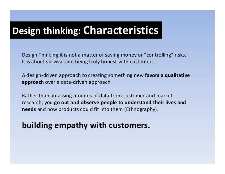 Designthinkers:Skillsets Design thinkers: Skill sets    Empathy   E   th     Abilitytoimaginetheworldfrommultiple...