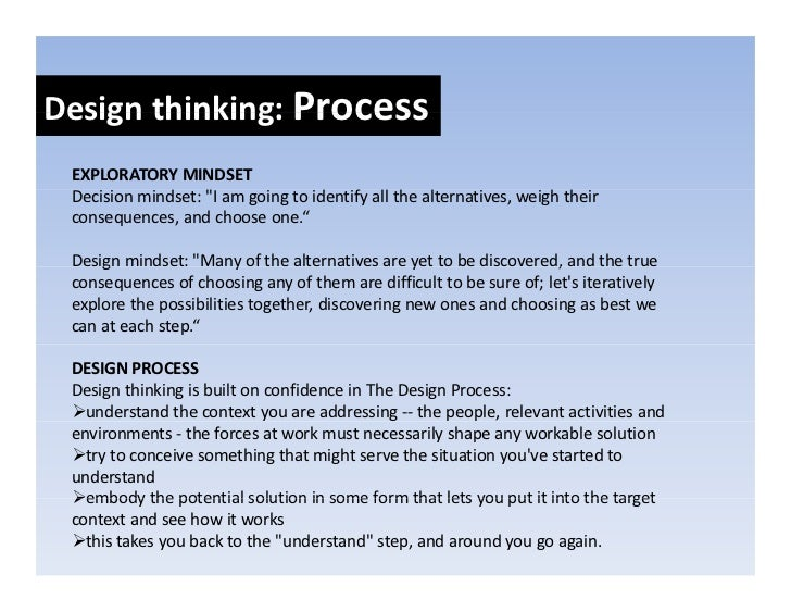 Designthinkers:Skillsets Design thinkers: Skill sets    Experimentalism   E    i   t li     Significantinnovationsdon...