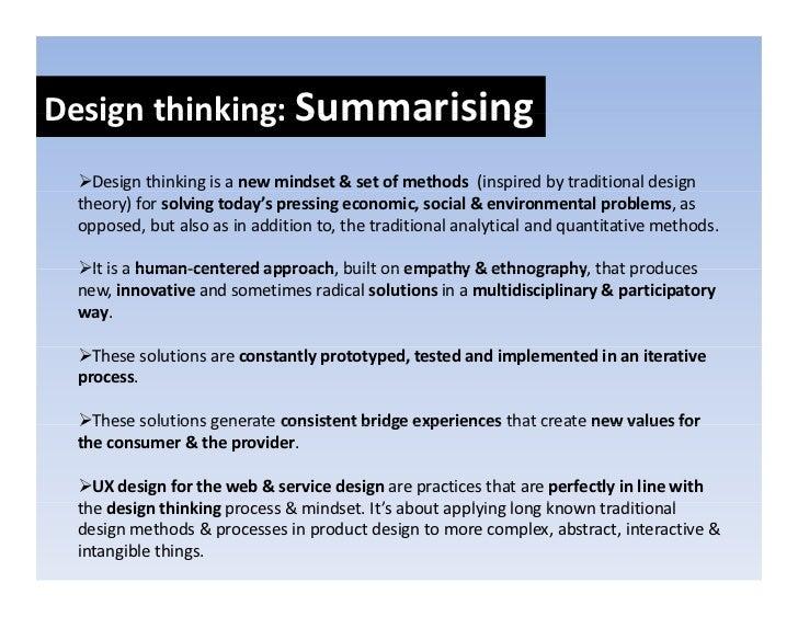 UX design, service design and design thinking