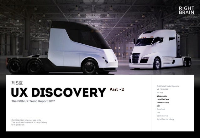 Rightbrain UX Discovery 5th Artificial Intelligence VR/AR/MR Robot Wearable Health Care Interaction Car Product IoT Commer...