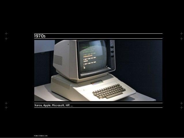 + + + + + + + + PEDRO CARDOSO, 2015 Xerox, Apple, Microsoft, HP, ... 1970s