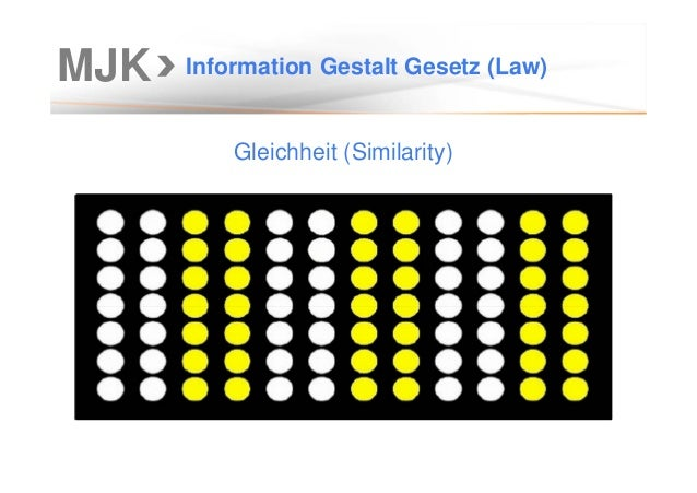 MJK Information Gestalt Gesetz (Law) Gleichheit (Similarity)