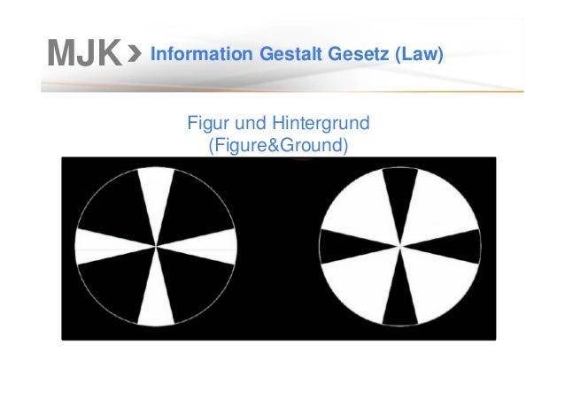 MJK Information Gestalt Gesetz (Law) Figur und Hintergrund (Figure&Ground)