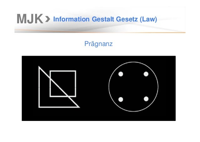 MJK Information Gestalt Gesetz (Law) Prägnanz