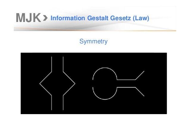 MJK Information Gestalt Gesetz (Law) Symmetry