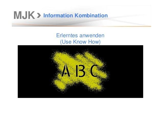MJK Information Kombination Erlerntes anwenden (Use Know How)