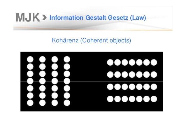 MJK Information Gestalt Gesetz (Law) Kohärenz (Coherent objects)