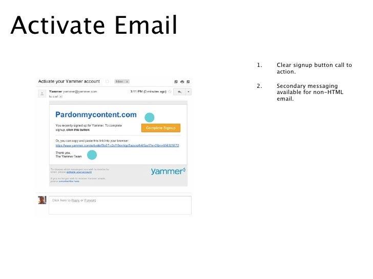 Create Profile Page                     1.   Progress bar indicates clear                          signage indicator of whe...